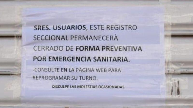 Cierran de manera preventiva el Registro del Automotor en Alta Gracia