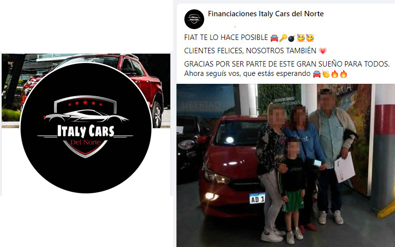 Fiat denunció por estafas a Italy Cars del Norte